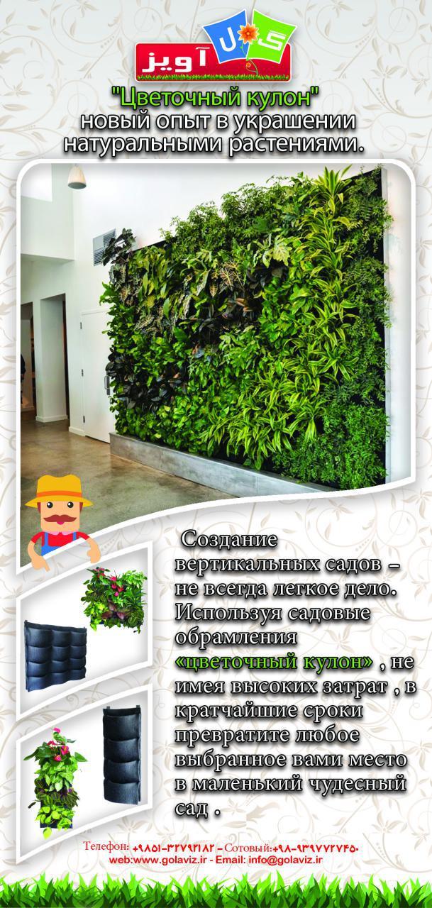 دیوار سبز آپارتمانی شرکت گل آويز wall garden2